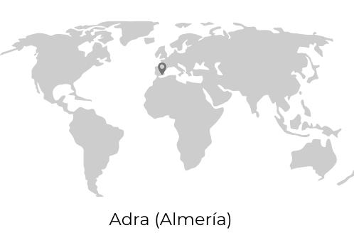 Mapa mundi. Almería