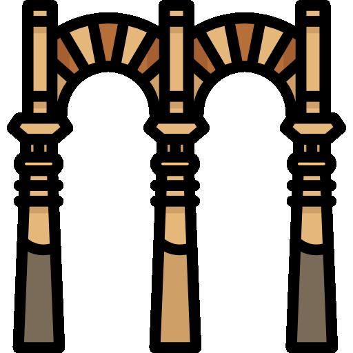Mezquita Catedral de Córdoba, puente romano y río del Guadalquivir